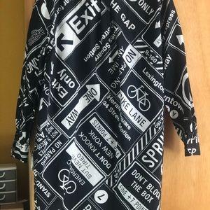 Dkny Dresses - DKNY cotton poplin covered button shirt